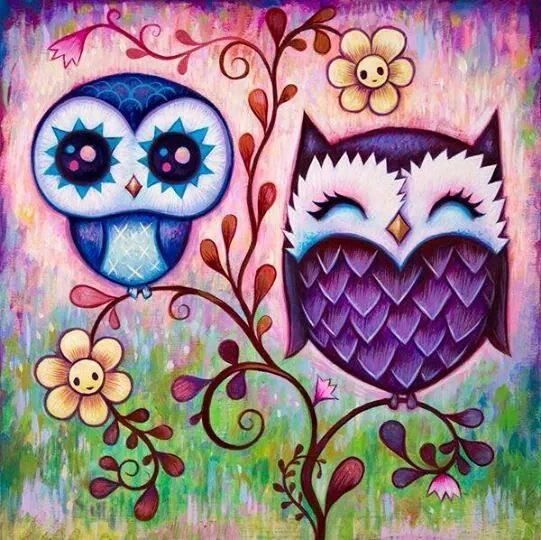 Purple owls!
