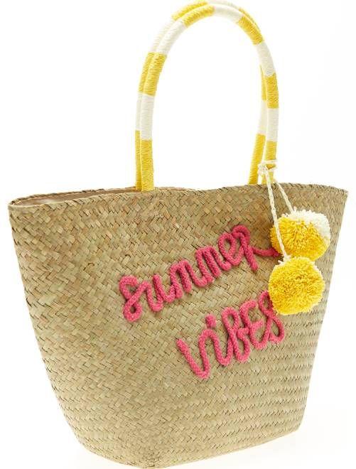 Sac cabas en paille Femme - rose à 15,00€ - Découvrez nos collections mode à petits prix dans notre rayon Sac à main, pochette.