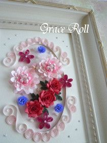 Quilling Flower Arrangement の画像|Grace Roll ~ペーパークイリング~