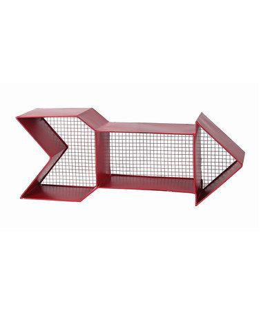 Look what I found on #zulily! Red Metal Straight Arrow Wall Shelf #zulilyfinds