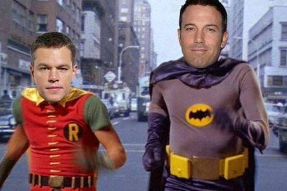 Batfleck. Ha, this would be funny if this actually happened!