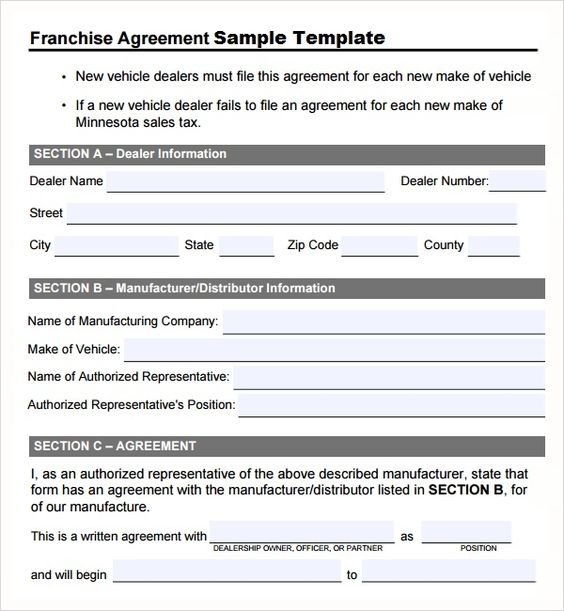 Franchise Agreement Template Sample Template u2013 Microsoft Office - incident report word template