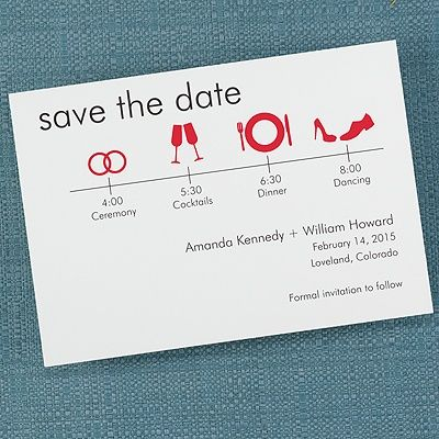 It's Time to Save the Date White Card - Merlot. The timeline of ...