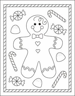 Pinterest for Gingerbread boy coloring page