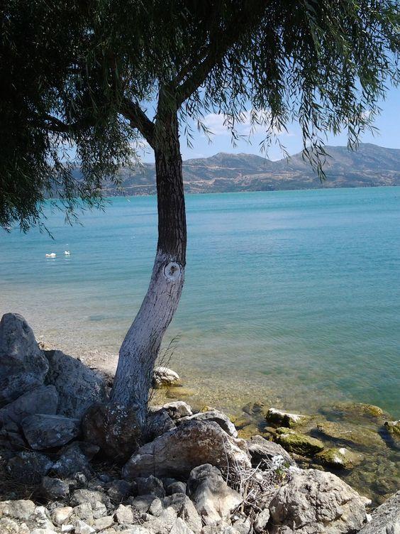 Lake Eğirdir-see, isparta, türkei