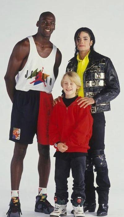Michael Jordan x Macaulay Culkin x Michael Jackson