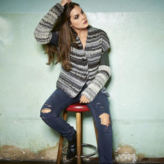Lana Grossa ÄRMELLOSE WESTE MIT RIPPENBLENDEN Lei Color Mix - RAGAZZA No. 6 - Modell 38 | FILATI.cc WebShop