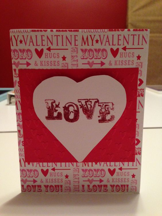 Valentine Card with embossing and glitter