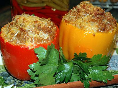 Stuffed Bell Peppers: Low-Fat, Low-Calorie