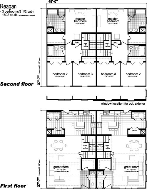 Home cape cod and floors on pinterest Modular duplex house plans