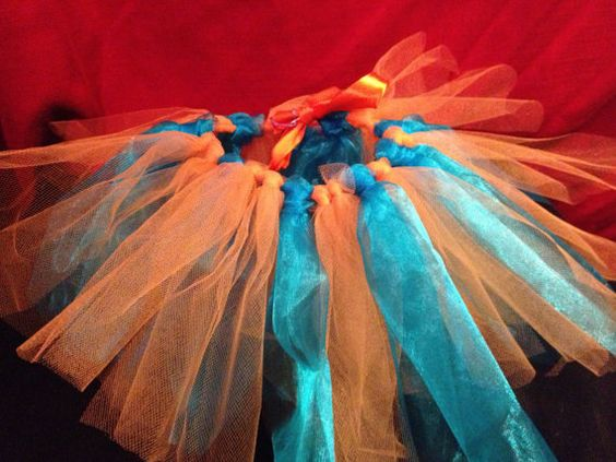 Orange and Turquoise Nemo Tutu by brokegirlsboutique on Etsy, $15.00