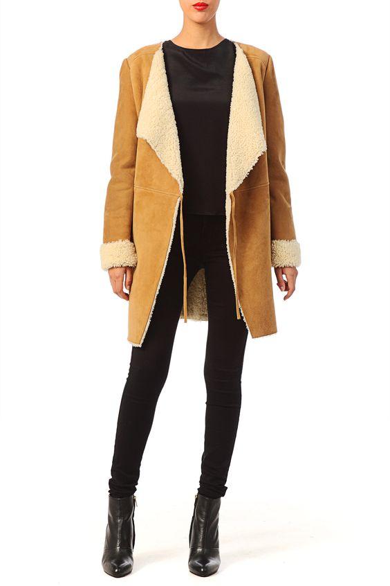 Préférence Les 25 meilleures idées de la catégorie Manteau peau mouton ba&sh  AD61