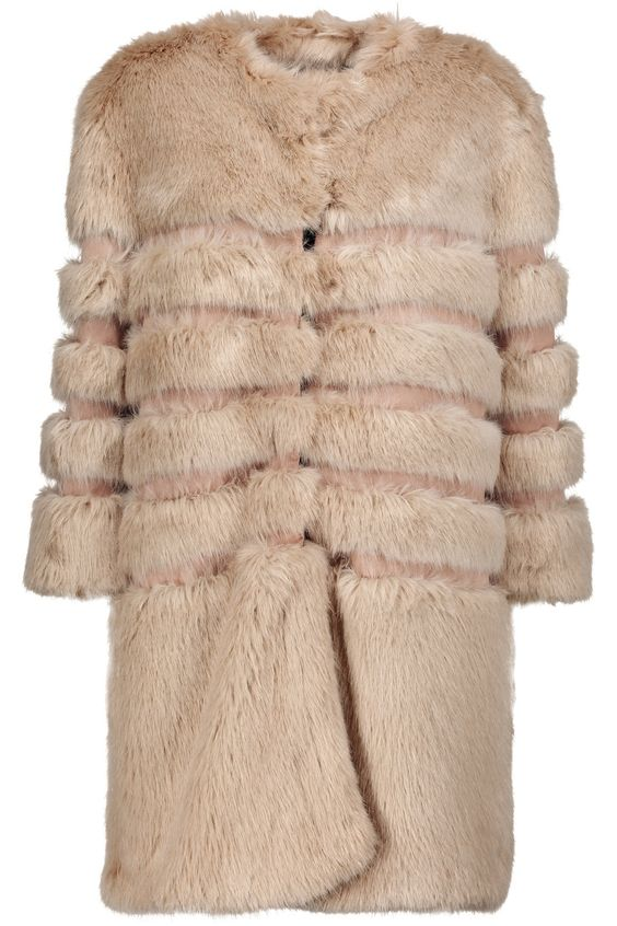 Shop on-sale Ainea Faux fur and satin coat. Browse other discount