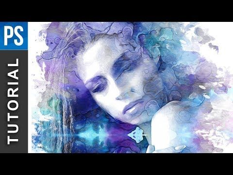 Beautiful Watercolor Portrait Effect In Photoshop Photoshop