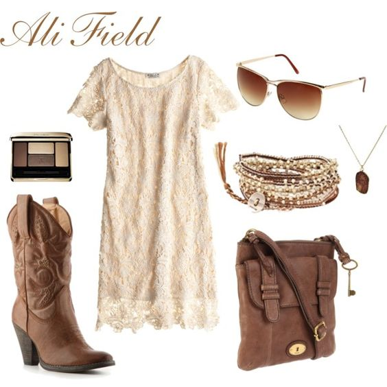Country Girl, created by #ali-field on #polyvore. #fashion #style #Volatile #FOSSIL