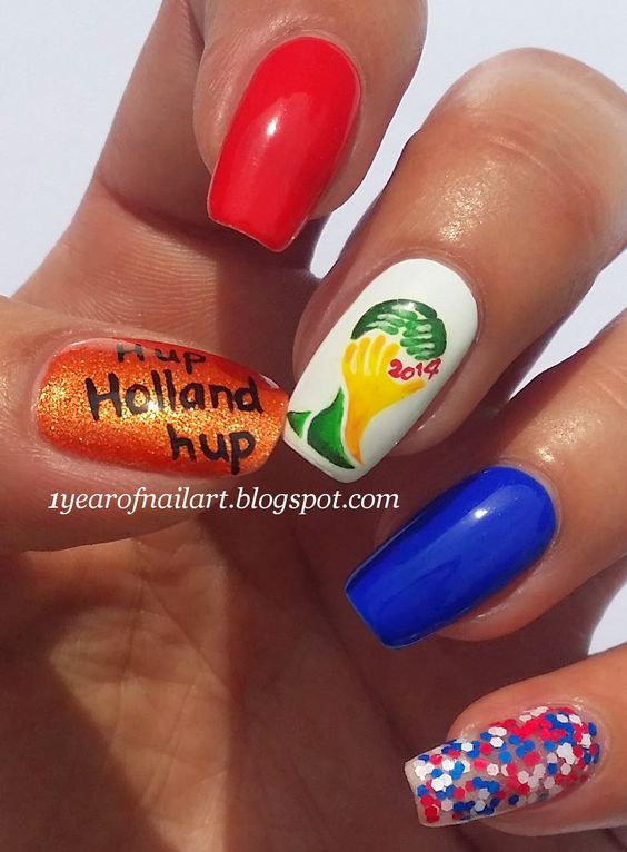 World Cup 2014 nails (Holland)