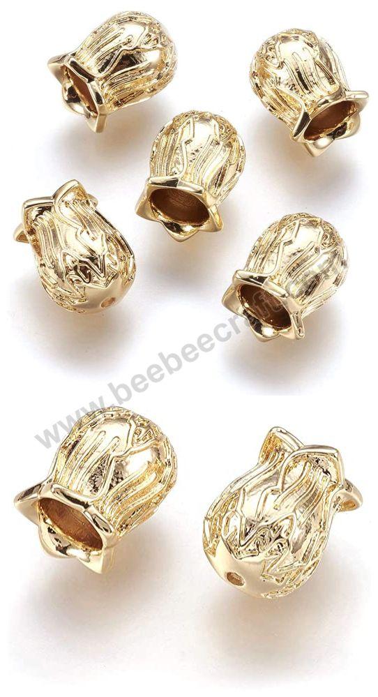 20pcs Flower Shape Brass Charms Pendants DIY Necklace Bracelets Earrings