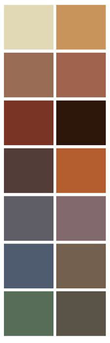 basement color palette - loving the grey and burnt orange. Hmmmm...