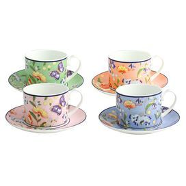 8-Piece Cottage Garden Cup & Saucer Set