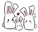 bunny family! Easy to draw!