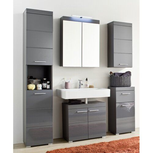 Metro Lane Neema 5 Piece Bathroom Storage Furniture Set Bathroom Furniture Storage Grey Bathroom Cabinets Bathroom Sets