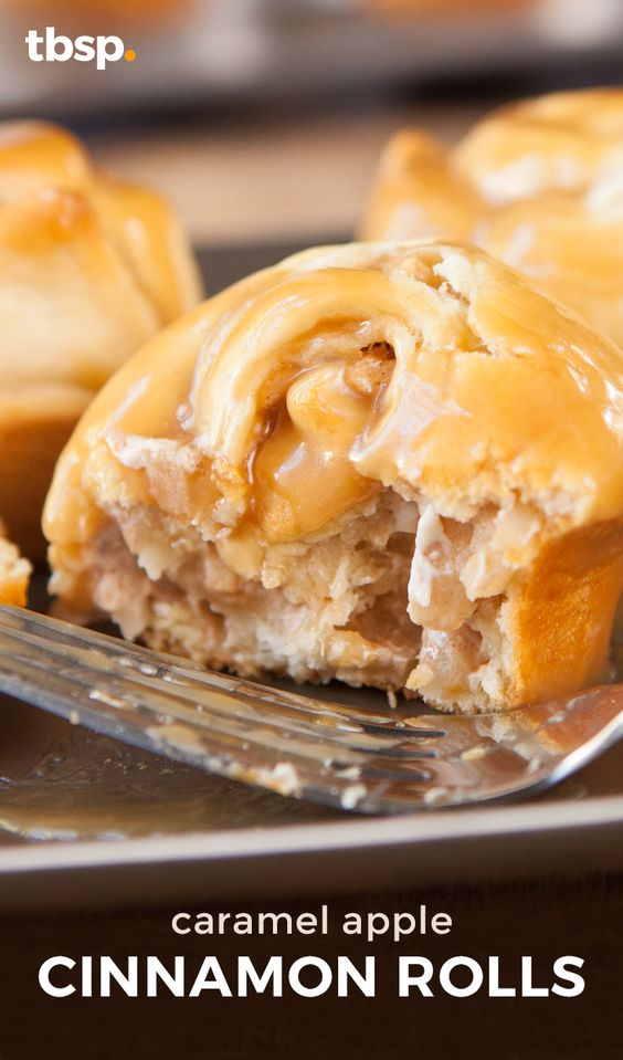 These caramel apple cinnamon rolls are not only good for any time of ...