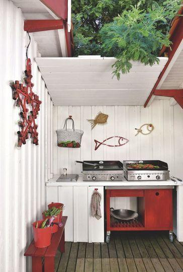Maison de p cheur r nov e pour vacances en famille au cap ferret terrasse photos et cuisine - Leroy merlin buitenkeuken ...