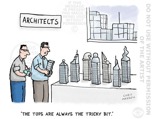 The toughest bit in the #architectural design process? Here's the answer. |  Cartoons