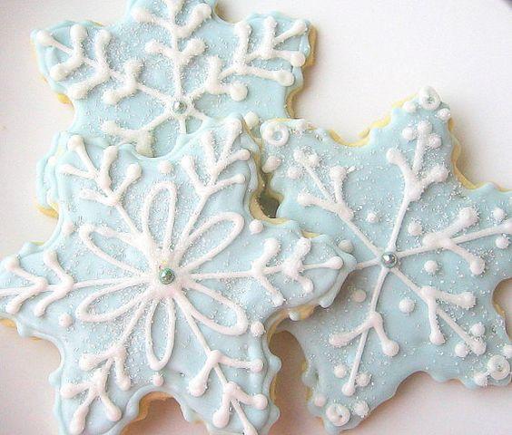 Sugar Cookies Snowflake Cookie Wedgwood by SugarMeDesserterie,