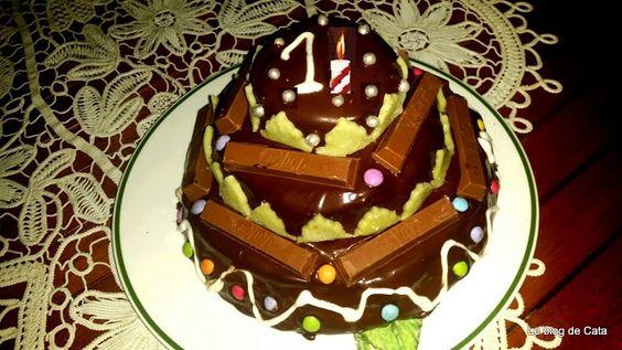 Le blog de Cata: Gâteau d'anniversaire au chocolat - 1er anniversai...