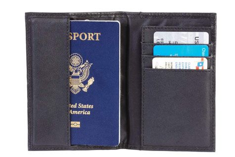 $11 for a Leather Passport Holder - Shipping Included