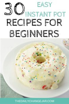 30 Easy Instant Pot Recipes for Beginners - The Daily Change Jar