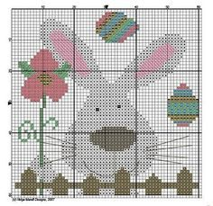 Easter Rabbit Cross-stitfh