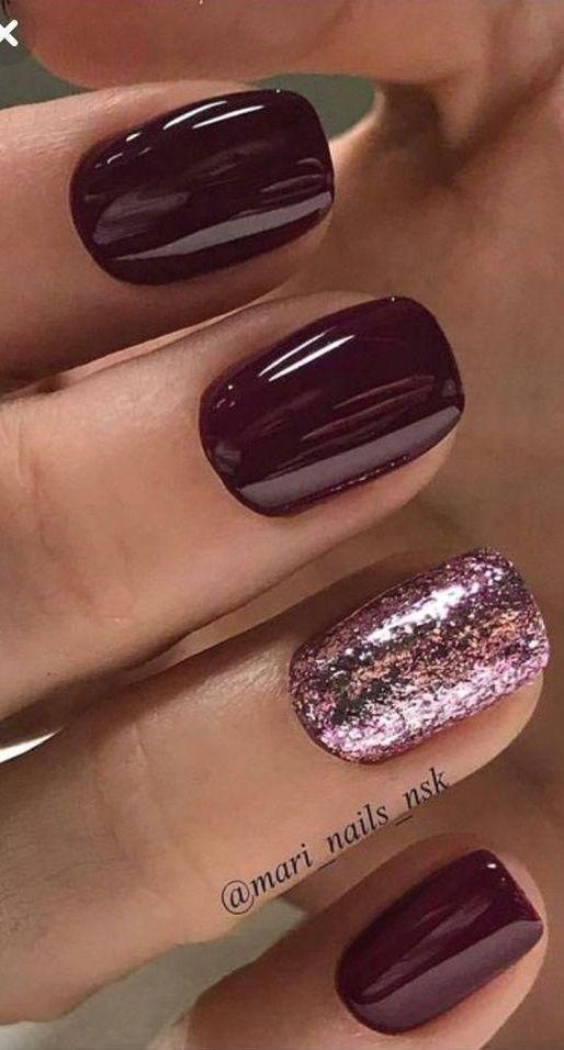 70 Sensational Winter Nail Colors To Make You Feel Warm In 2020 Classy Nail Designs Nails Modern Nails