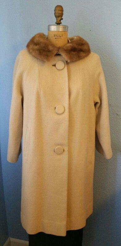 60's Coat with mink collar