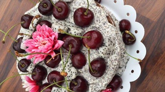 Šťavnatý koláč s čokoládou a makom