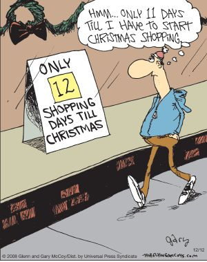 Men and their Christmas shopping. The Flying McCoys on GoComics.com #Holidays #Christmas #Shopping: