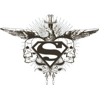 Superman Stylized Skulls Logo Skull Artwork Superman Coloring Pages Skull Logo