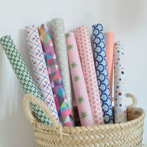 pastel wrapping paper