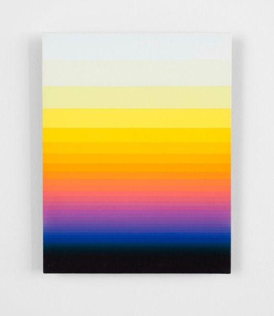 Norman Zammitt -  South Wall 10, 1975.   Acrylic on canvas board, 35.6 cm x 28 cm, 1975
