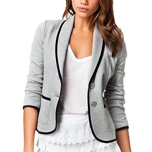 Damen Blazer Jacke Anzugjacke Business Slim Fit Jäckchen Mantel Casual Tops Coat