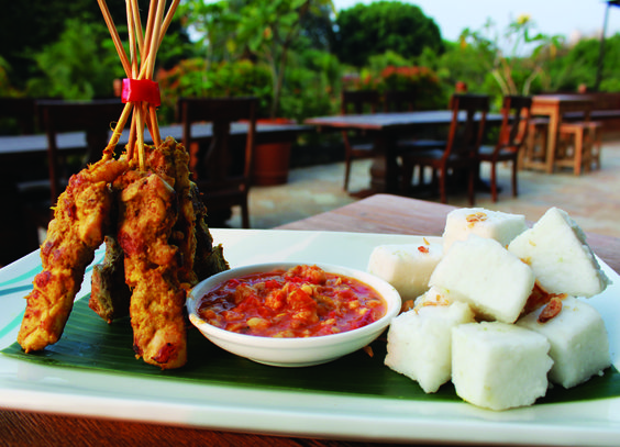 Sate Ambal Is The Authentic Taste Of Home Cooked Indonesian Cuisine At Kembang Goyang Restaurant Our Chef Will Serve This December Promotion With Ketupat Cubes