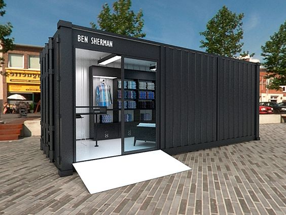 Exhibition Design & HDRI Rendering for the Ben Sherman's Container Shop.