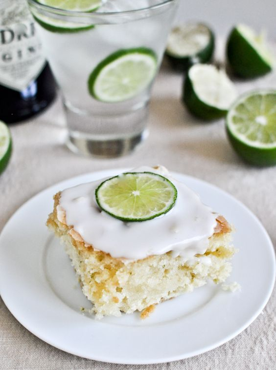 Gin and tonic cake.