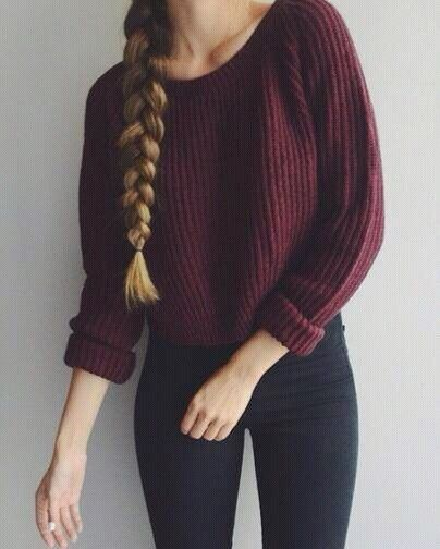 Image via We Heart It https://weheartit.com/entry/146550140 #autumn #beautiful #black #blonde #brown #brunette #casual #clothes #fashion #girl #girly #hair #outfit #pants #pretty #purple #sweater #blondine #stule