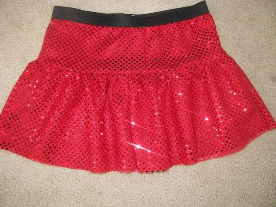 Misses Tiered Sparkle Running Skirt. $17.00, via Etsy.