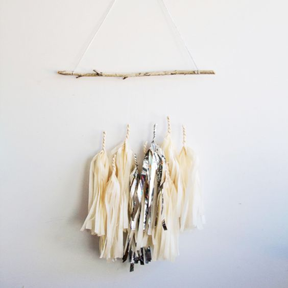 This Tassel Twig Mobile is the perfect addition to a gender neutral nursery! #PNshop: Twig Mobile, Baby Girl Nurserys, Girls Nursery, Girl Nurseries, Baby Niemann, Tassel Twig, Baby Girls