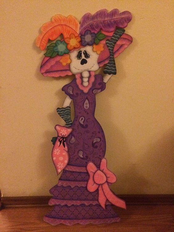 Decoracion Oficina Dia De Muertos ~ Catrina Para d?a de muertos Muy mexicana!  decoracion  Pinterest