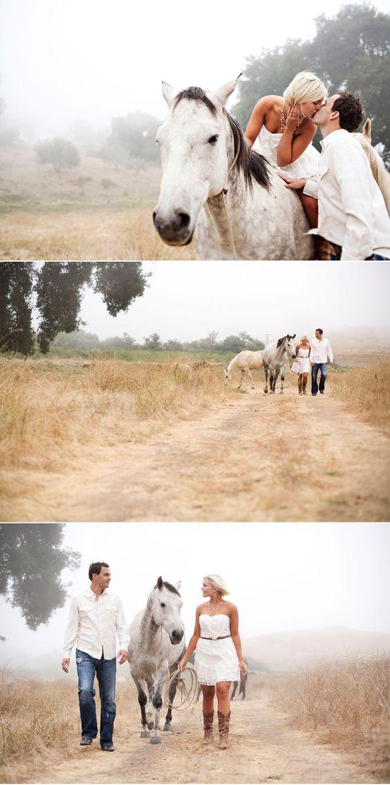 engagement horse shoot