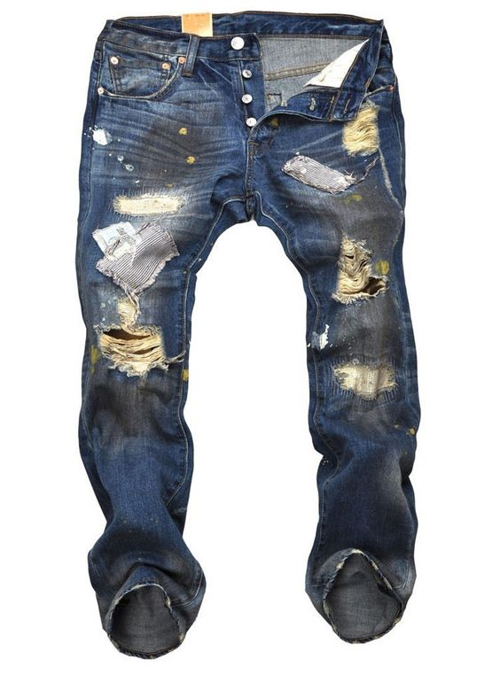 2014 New Arrival Fashion Men Jeans Famous Designer Brand Destroyed ...